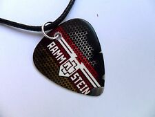 RAMMSTEIN  Double Sided Guitar Pick  /  Plectrum Leather Necklace