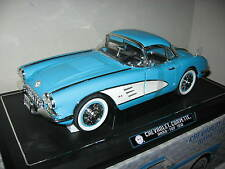 1958 CHEVROLET CORVETTE  W/ REMOVABLE TOP  BLUE  SOLIDO 1:12 SCALE