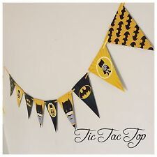 BATMAN Superhero Party Banner Bunting. Flag Decoration Supplies *SUPERB*