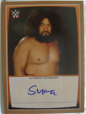 WWE Sika Samoan 2015 Topps Road To WrestleMania GOLD Autograph Card SN 9 of 10