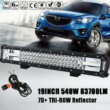 "CREE 7D+ REFLECTOR 19""INCH 540W TRI-ROW LED LIGHT BAR SPOT FLOOD COMBO OFFROAD"