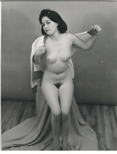 Vintage Fine Art Nude Photo Busty Woman Posing Original 1940s Gelatin Silver GD5