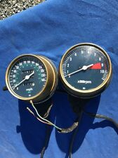 Vintage Honda CB750 Speedometer And Tachometer With Cases, Cables And Brackets