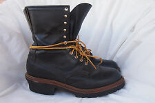 RED WING boots mens LOGGER FIREFIGHTER 699 style sz 11.5 EE made USA vtg 90s