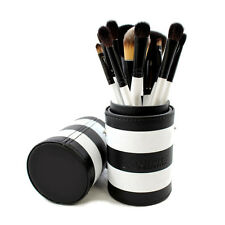 NEW! morphe 12 piece black and white striped travel brush set 706 in carry case