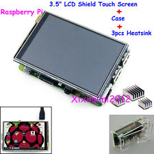 "New 3.5"" TFT LCD Shield Touch Screen Display + Case + Heatsink For Raspberry Pi"