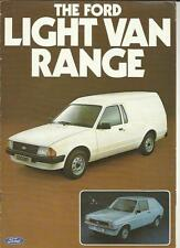 FORD LIGHT VANS - FIESTA/L, ESCORT 35/35L & 55/55L STANDARD BROCHURE  MAY 1981
