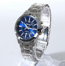 Seiko Recraft Mens Stainless Steel Kinetic Blue Face Classic 42mm Watch SKA703