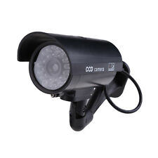 Outdoor Indoor Fake Surveillance Security Dummy Camera Night CAM LED Light