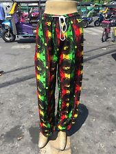 Trousers Bob Marley RASTA REGGA HIPPIE BOHO Yoga Pants Thai Baggy Hippy hemp #7