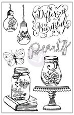 Prima Flowers BEAUTY Salvage District Cling Stamp Set 584702  2016