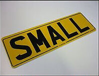 "Small 13"" Sized Size 330x111 Short Oblong GB UK Car Licence Reg Number Plates"