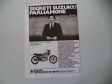 advertising Pubblicità 1976 MOTO SUZUKI GT 500