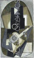ART PRINT LHomme a la Guitare 1918 Pablo Picasso 12x7