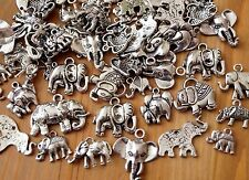 20 Mixed Lucky Elephant Tibetan Silver Animal Good Luck Charm Pendant(TSC67)
