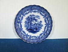 "W. R. S and Co. Humphrey's Clock Porcelain 8"" Flow Blue Plate"