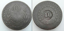 Collectable 40 Reis Brazil Coin - Countermark South America