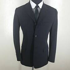 PRADA MADE IN ITALY BLACK BLAZER NYLON AND SPANDEX 3 BTN SIDE VENTS 4OR-FIT38R