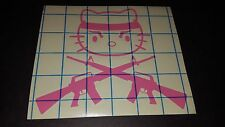 Hello Kitty Crossed M16s AR15s - Vinyl car truck van window decal sticker