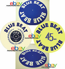 "BLUE BEAT Records 12""  7"" SLIPMAT turntable platter mat ska reggae buster capone"