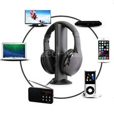 5 En1 Sans Fil Ecouteur Casque Audio HiFi Moniteur FM Radio MIC Pr PC TV DVD MP4