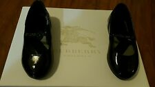 BURBERRY TODDLER BALLERINA FLAT SHOES BLACK SIENNA AAUSY SIZE EU 24 USA 8