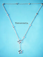 Tiffany & Co Sterling Silver Star Link Lariat Necklace
