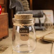 Mini Glass Favors Storage Jars Bottle Containers Cans with Sealed Cork Lid