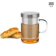 Samadoyo S-050 Stainless Steel Infuser Strainer Glass Tea Cup Mug 500ml Bodum