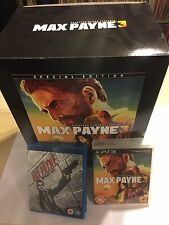 PS3 MAX PAYNE 3 III HUGE SPECIAL COLLECTORS EDITION BOXSET NEW GAME FIGURE +FILM
