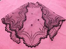 VINTAGE FRENCH BLACK CHANTILLY LACE MANTILLA HEAD SCARF VERY PRETTY