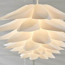 Large H52cm Artichoke Pendant Light Origami Cut Out Geometric Feather Layered