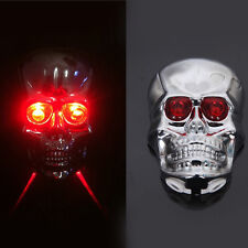 LED Skull Laser Mountain Road Lane Bike Bicycle Taillight Safety Warning Light