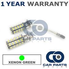 2X XENON GREEN H3 60 SMD LED FOG LIGHT BULBS FOR FOR NISSAN ALMERA MICRA PRIMERA