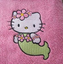 """PERSONALIZED EMBROIDERED HELLO KITTY SWIMMING/BATH TOWEL""MERMAID"