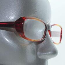 Flame Frame Orange Red Polished Drama Reading Glasses +1.75 Lens
