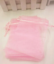 30pcs Jewelry Candy Organza Pouch Bags Wedding Party Favor Gift 8.5x11.5cm pink