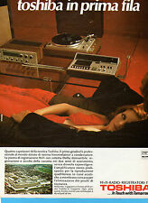(AM) EPOCA974-PUBBLICITA'/ADVERTISING-1974-TOSHIBA GIRADISCHI PROFESSIONALE