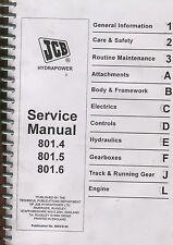 JCB Shop Service Manual - 801.4/801.5/801.6 Mini Excavators