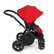 Ickle Bubba Stomp v2 3-in-1 Baby Travel System - Red on Black Frame Combination