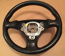 AUDI A2 2000 2005 A2 A3 A6 STEERING WHEEL BLACK LEATHER 3 SPOKE 8Z0419091D