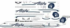 Alaska McDonnell Douglas MD-81 airliner decals for Minicraft 1/144 kits