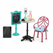 "American Girl LE GRACES BISTRO SET for 18"" Dolls Table Chair Paris NEW"