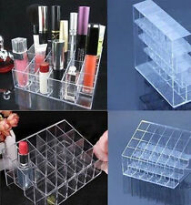 24 Clear Plastic Lipstick Make up Display Stand Cosmetic Organizer Holder Case
