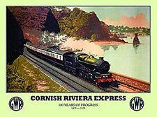 Cornish Riviera Express GWR Rail Ad. steel sign 200mm x 150mm (og)