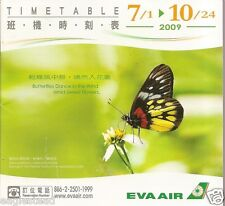Airline Timetable - Eva Air - 01/07/09 - Butterfly Cover (Taiwan)