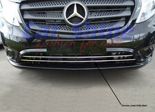 Mercedes W447 Vito CHROME STAINLESS STEEL LOWER GRILLE BARS 2pce -PAINTED BUMPER