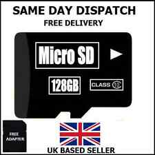 Carte micro sd 128GB class 10 tf flash memory sdhc garantie à vie/uk vendeur