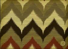 Woven Chevron Flame Stitch Zigzag Stripe Brick Olive Gray Upholstery Fabric