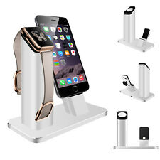 2 in 1 Aluminum Charging Stand Night Dock Station Holder For Apple Watch iPhone